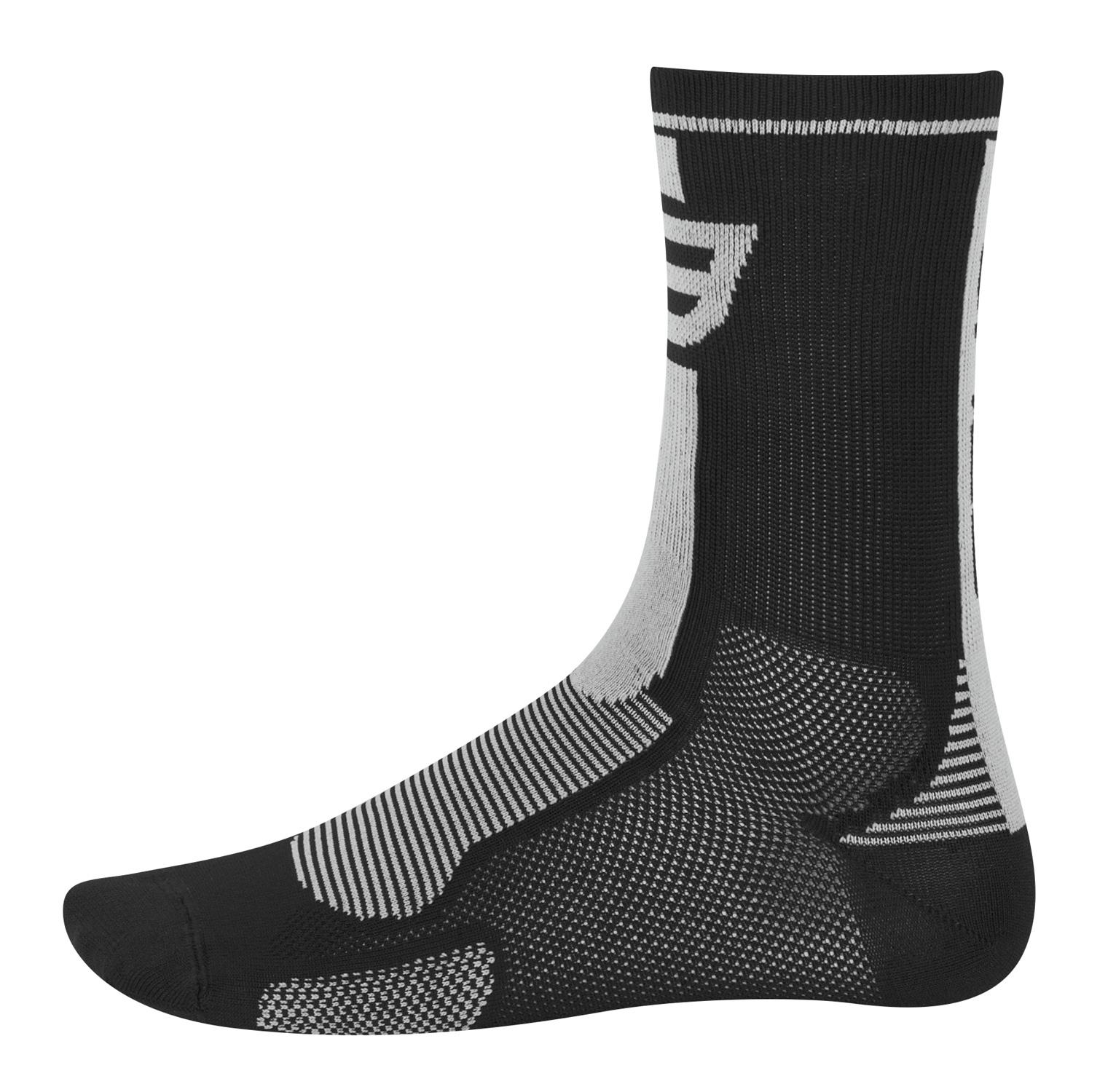 ponožky FORCE LONG, černo-šedé S - M