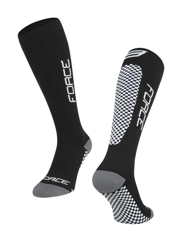 ponožky FORCE TESSERA KOMPRESNÍ, černé L-XL