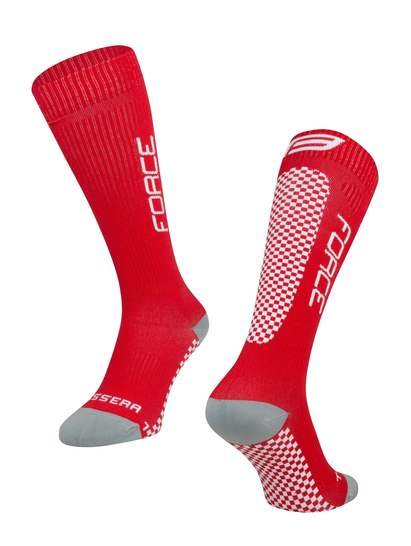 ponožky FORCE TESSERA KOMPRESNÍ, červené L-XL