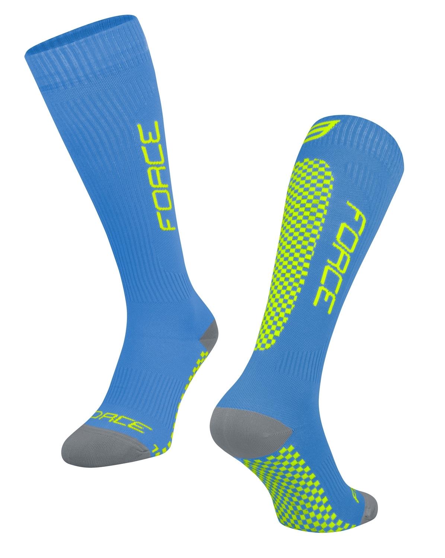 ponožky FORCE TESSERA KOMPRESNÍ širší W,modrá S-M