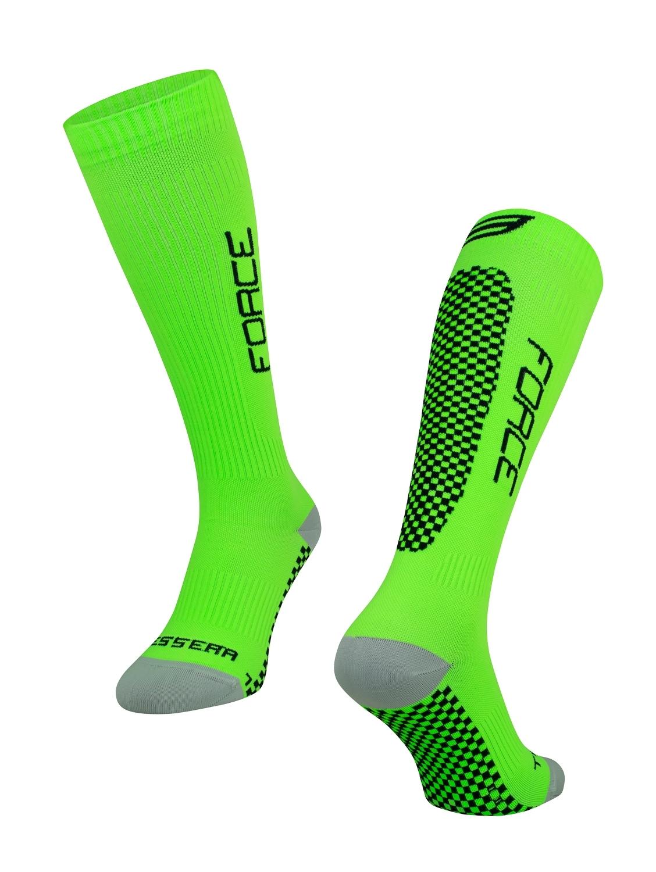 ponožky FORCE TESSERA KOMPRESNÍ,zelené L-XL