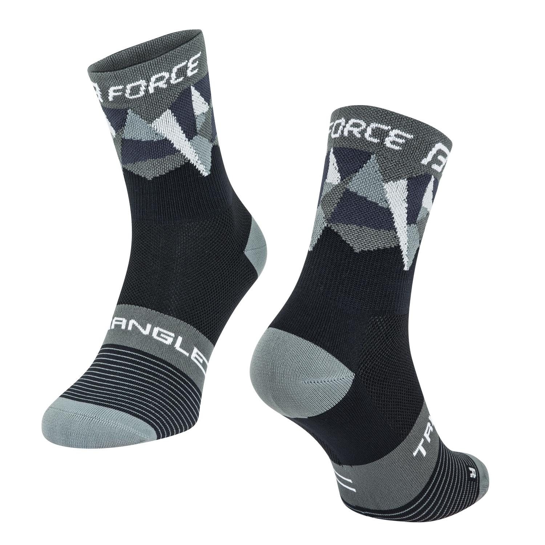 ponožky FORCE TRIANGLE, černo-šedé L-XL