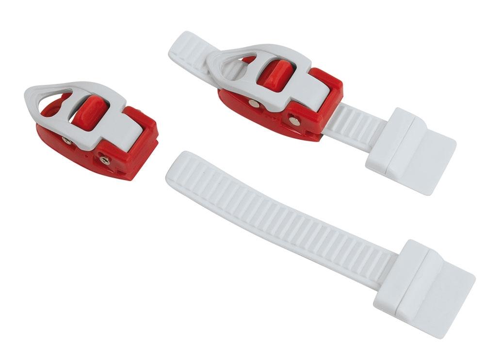přezky náhradní na FORCE tretry, bílo-červené