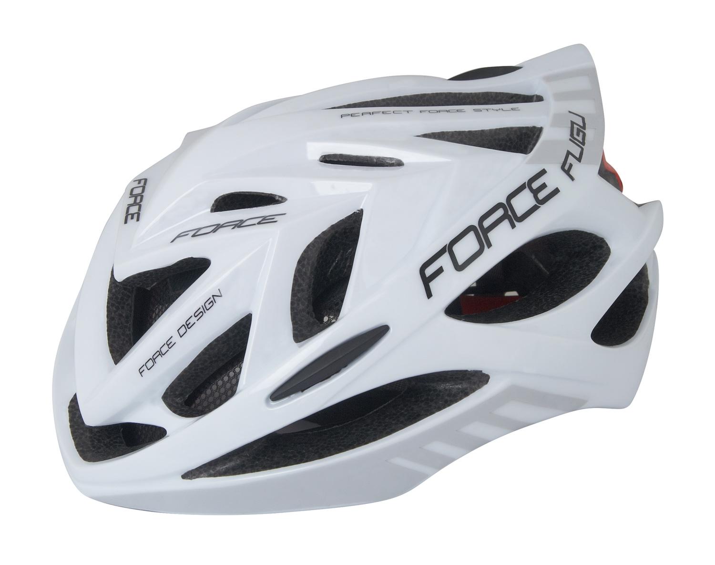 přilba FORCE FUGU, bílo-šedá L - XL