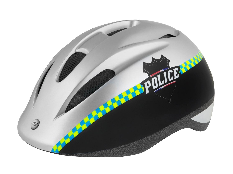 přilba FORCE FUN POLICE 2019 dětská, černo-bílá M