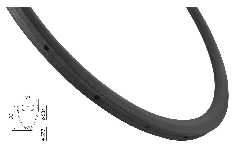 ráfek silniční galuskový KARBON 33mm, 24děr