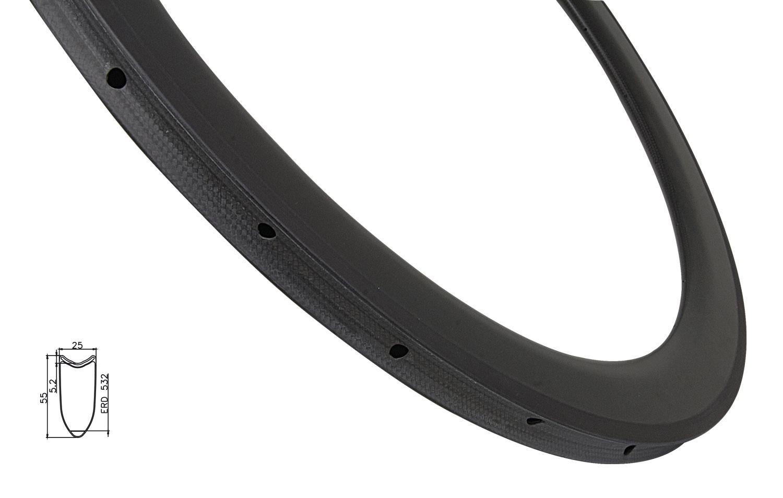 ráfek silniční galuskový KARBON 55mm, 20děr