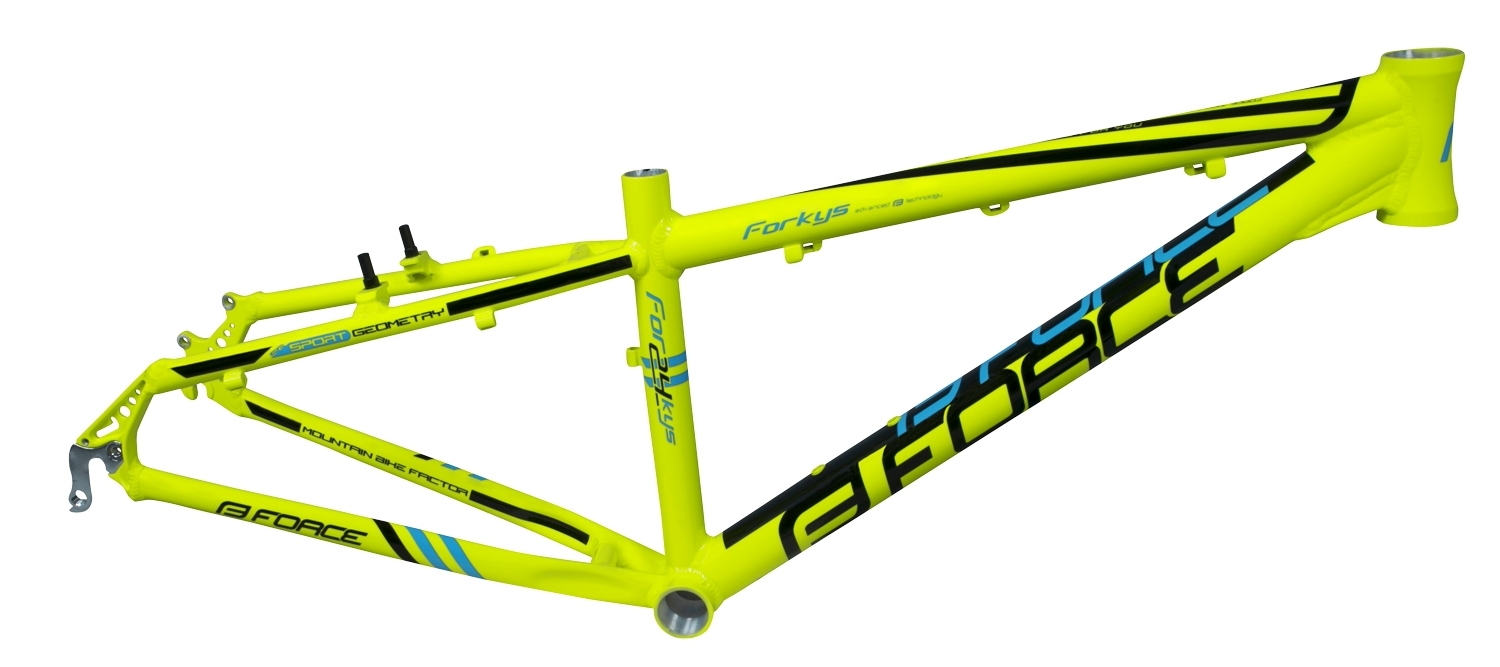 "rám FORCE FORKYS MTB 24"" V-brake, fluo"