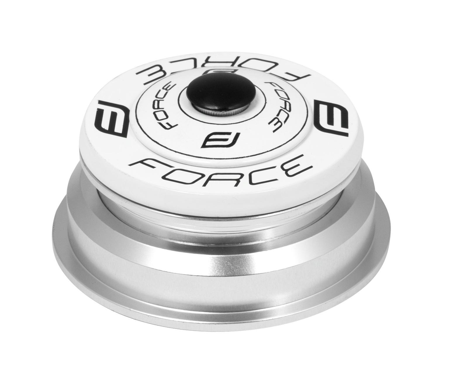 """řízení F TAPER 1 1/8""""-1 1/2"""" polointegr.55mm bílé"""
