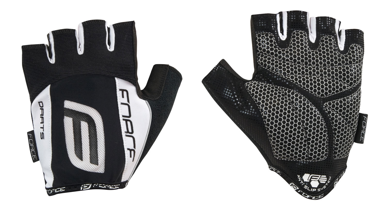 rukavice F DARTS 17 gel bez zapínání,černo-bílé L