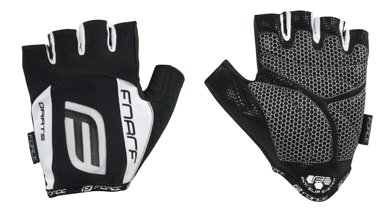 rukavice F DARTS 17 gel bez zapínání,černo-bílé S
