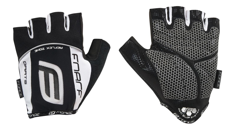 rukavice F DARTS gel bez zapínání, černo-bílé M
