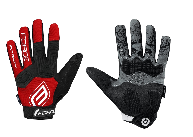 rukavice F MTB AUTONOMY 17 , červené XL