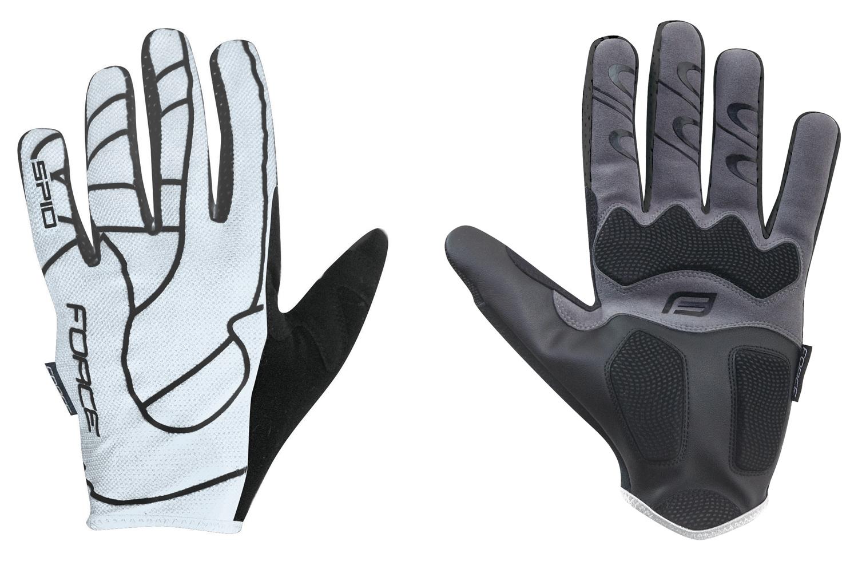 rukavice F MTB SPID 16 bez zapínání, bílé L