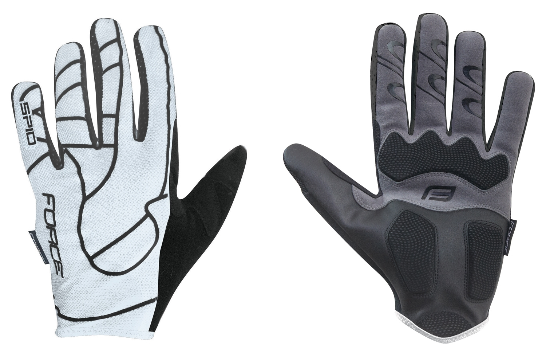 rukavice F MTB SPID letní bez zapínání, bílé L