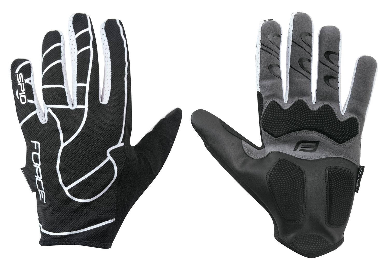 rukavice F MTB SPID letní bez zapínání, černé M
