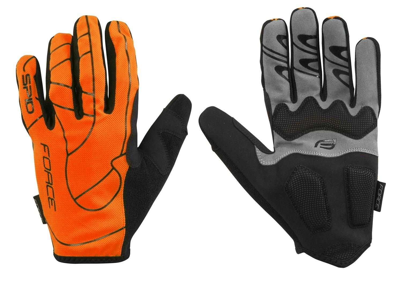 rukavice FORCE MTB SPID letní bez zapínání,oranžová