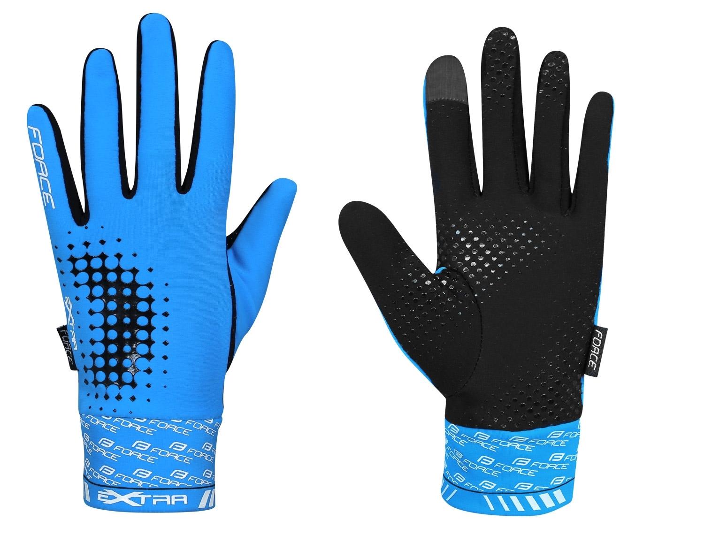 rukavice FORCE EXTRA jaro-podzim, modré XL