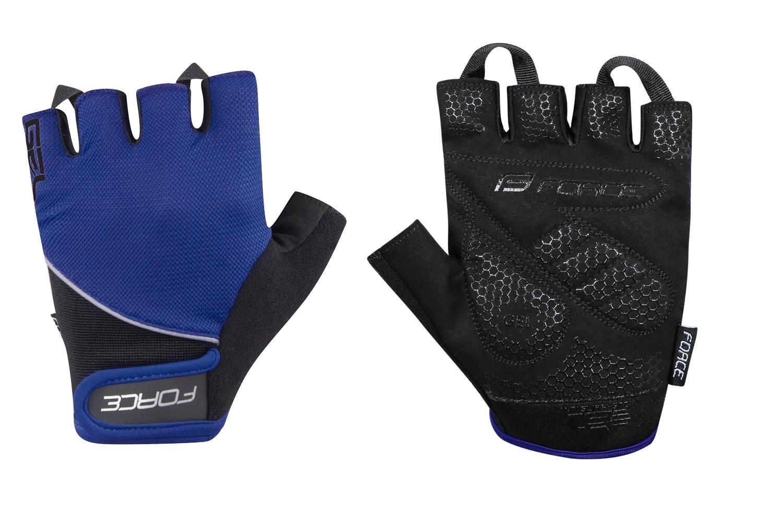 rukavice FORCE GEL , tmavě modré XS