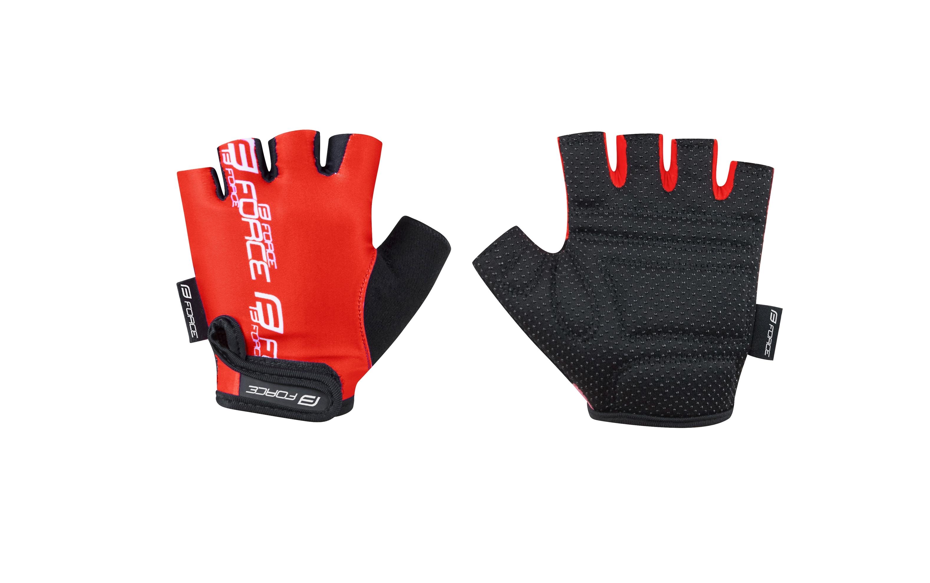 rukavice FORCE KID dětské, červené L