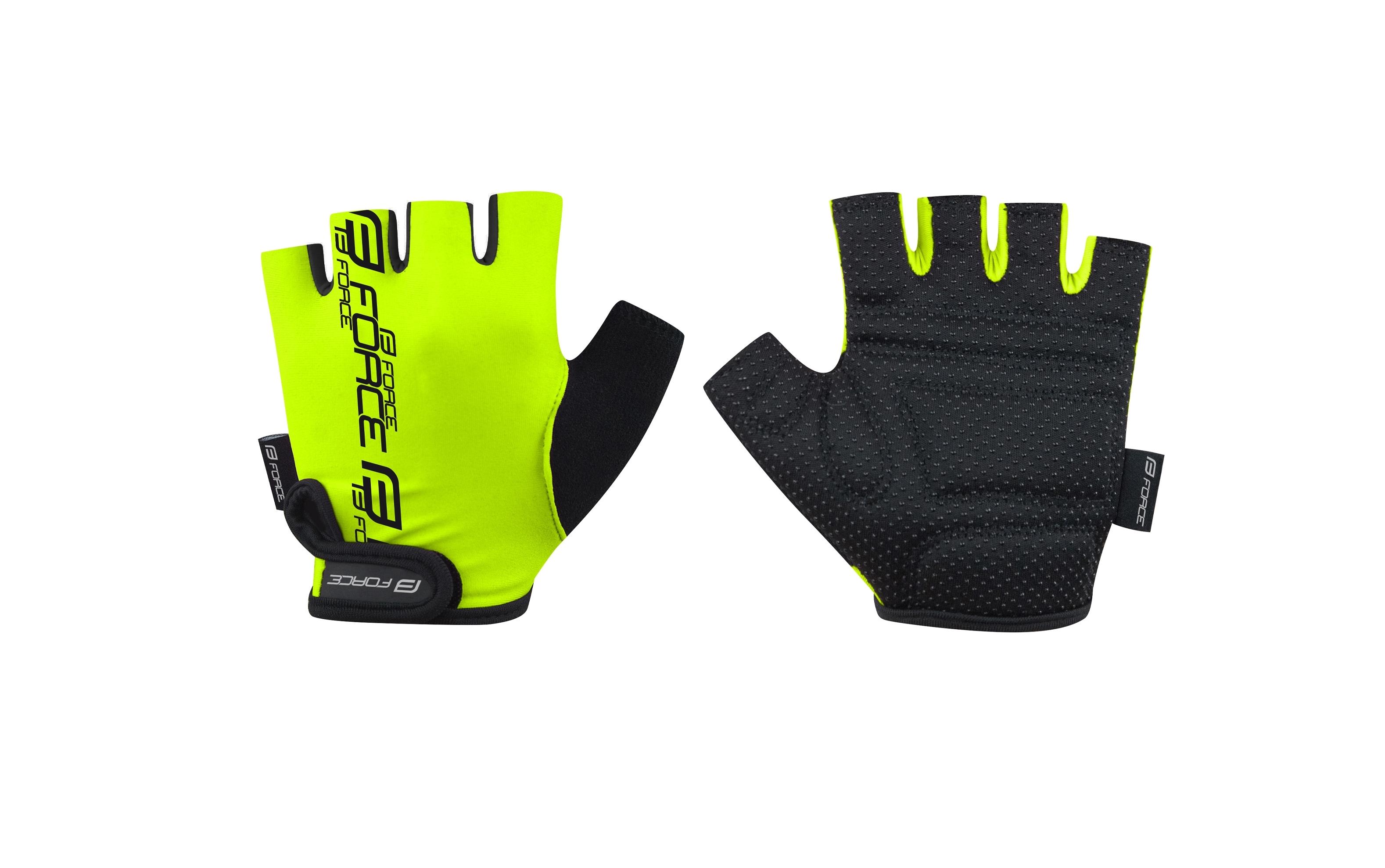 rukavice FORCE KID dětské, fluo XL
