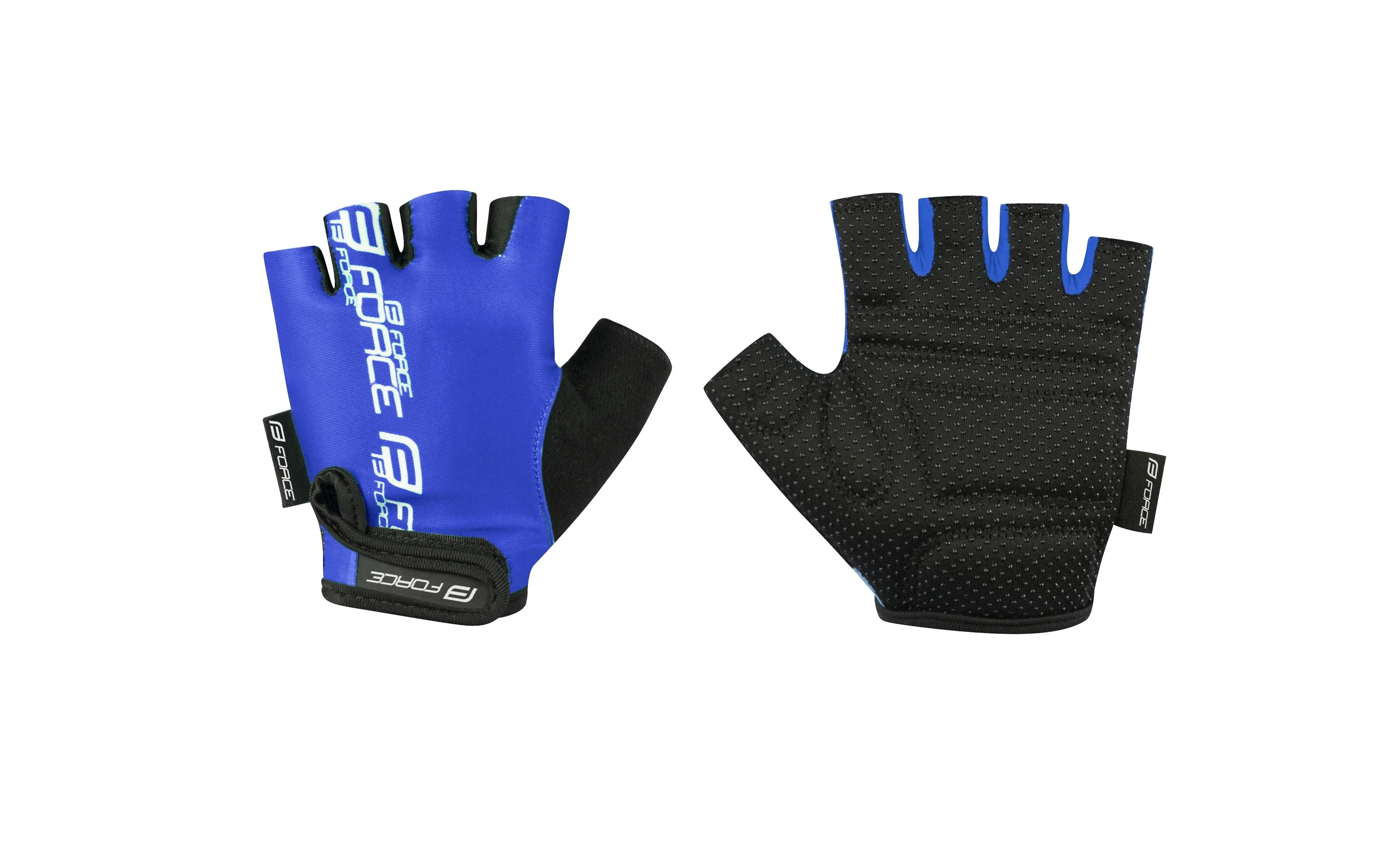 rukavice FORCE KID dětské, modré XL