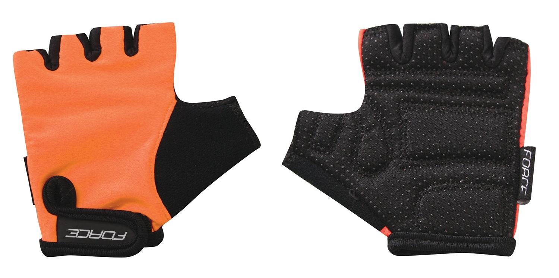 rukavice FORCE KID dětské, oranžové XL
