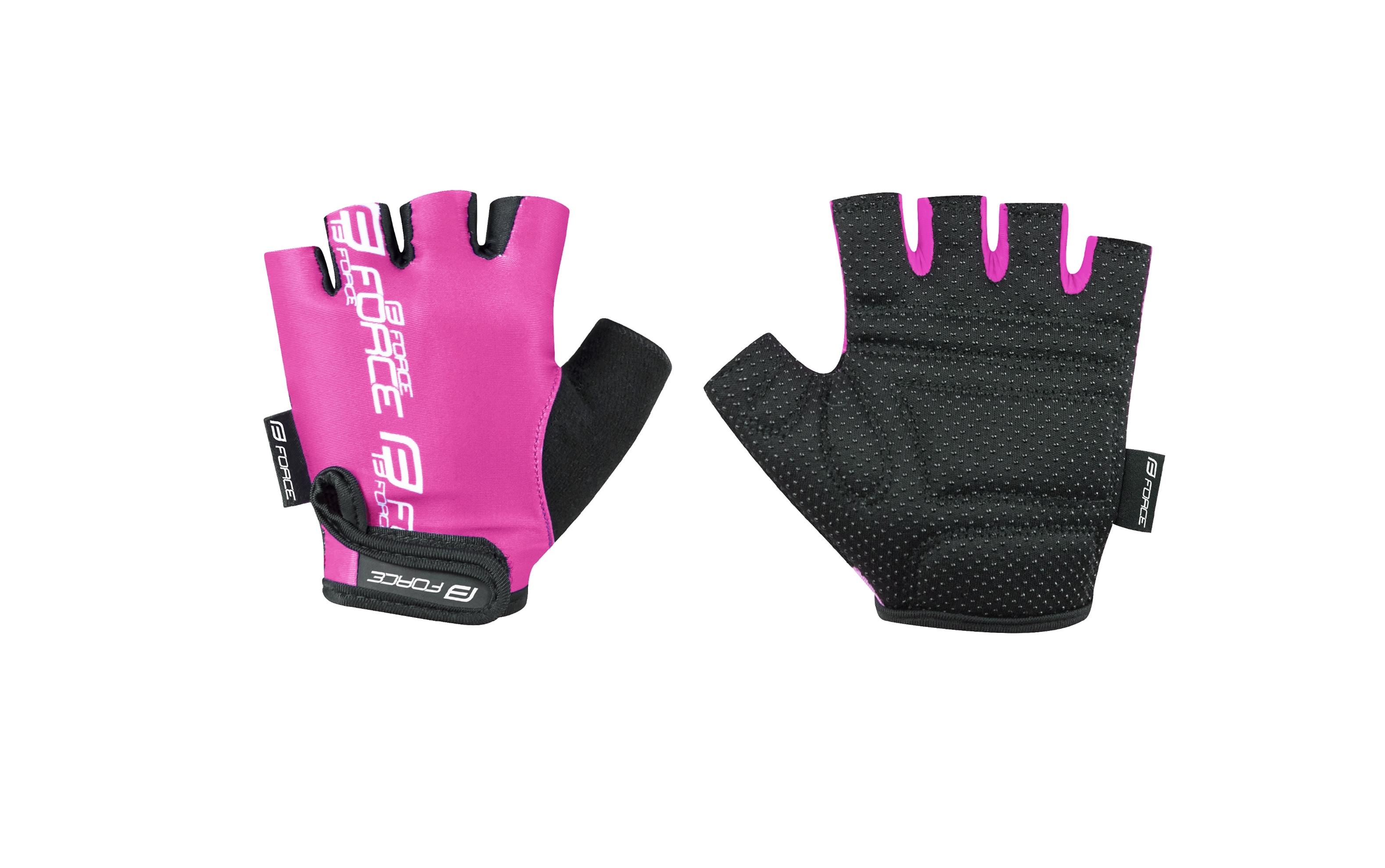 rukavice FORCE KID dětské, růžové L