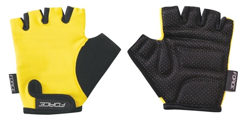 rukavice FORCE KID dětské, žluté XL