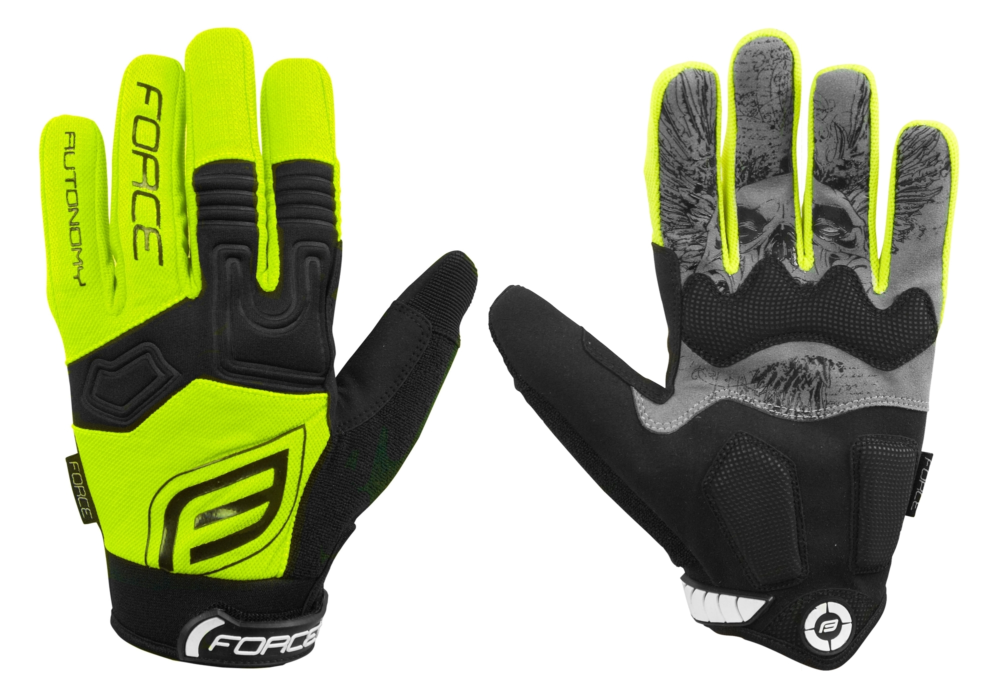 rukavice FORCE MTB AUTONOMY, fluo M