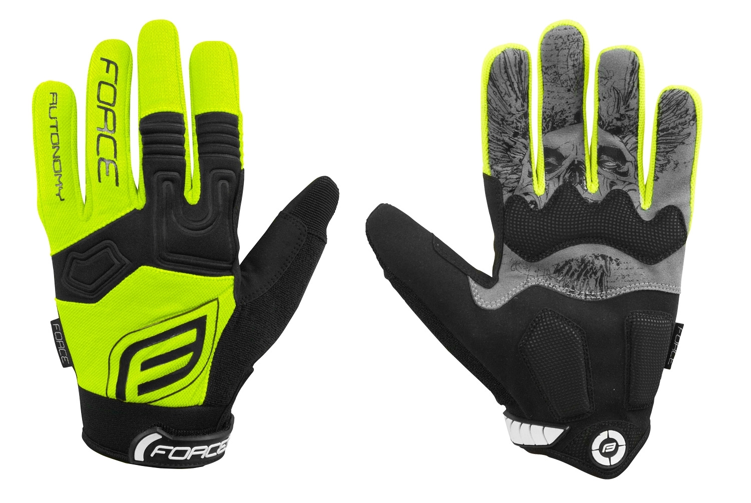 rukavice FORCE MTB AUTONOMY, fluo XL