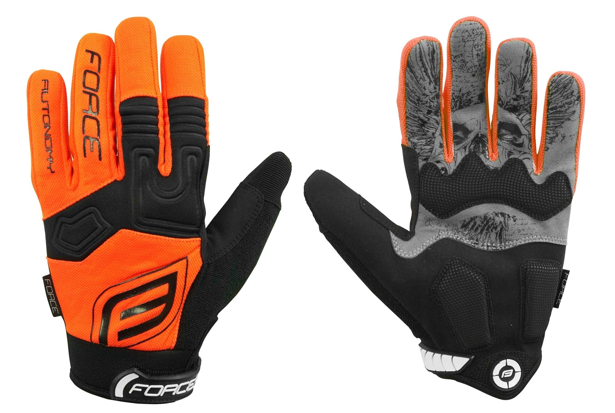 rukavice FORCE MTB AUTONOMY, oranžové