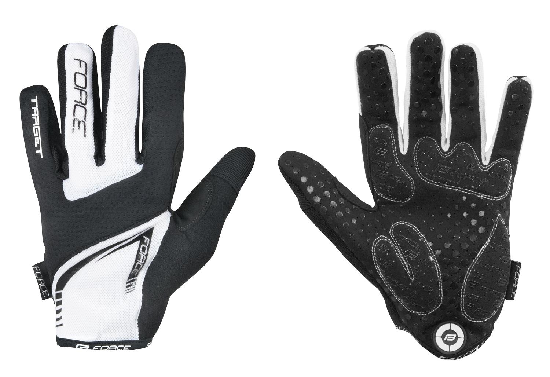 rukavice MTB TARGET letní bílé