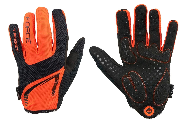 rukavice FORCE MTB TARGET letní, oranžové XL