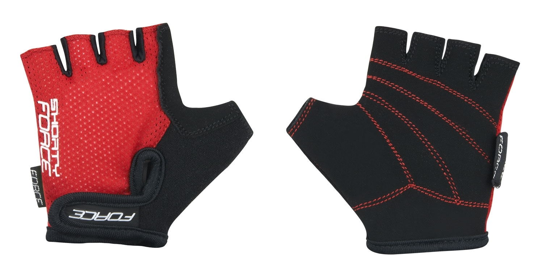 rukavice FORCE SHORTY dětské, červené M