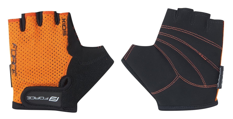 rukavice FORCE SHORTY dětské, oranžové M