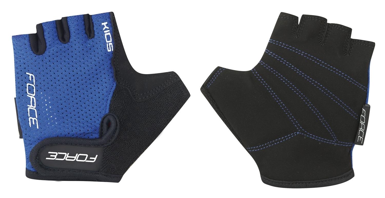 rukavice FORCE SHORTY dětské, tmavě modré XL