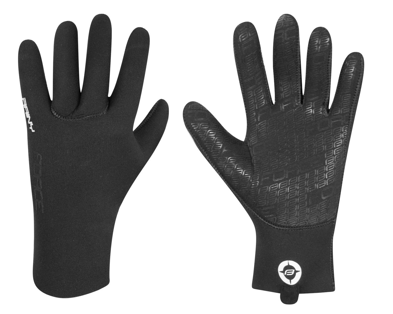 rukavice neoprénové FORCE RAINY, černé XXL