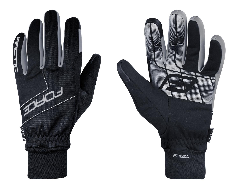 rukavice zimní FORCE ARTIC, černé XL