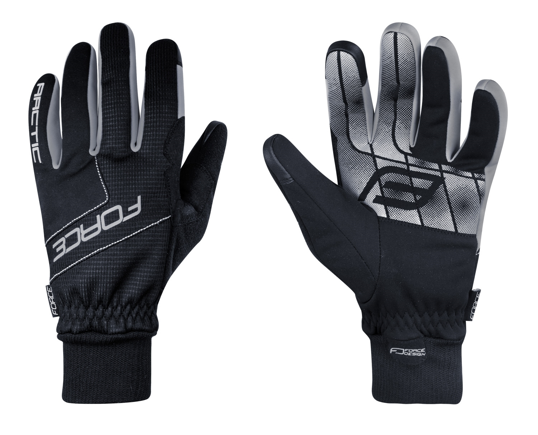 rukavice zimní FORCE ARTIC, černé XXL