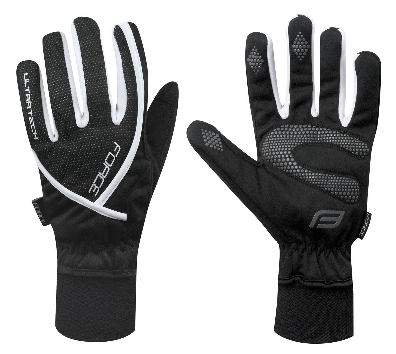 rukavice zimní FORCE ULTRA TECH, černé XXL