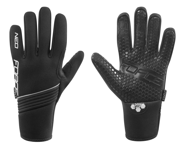 rukavice zimní neoprén FORCE NEO, černé M