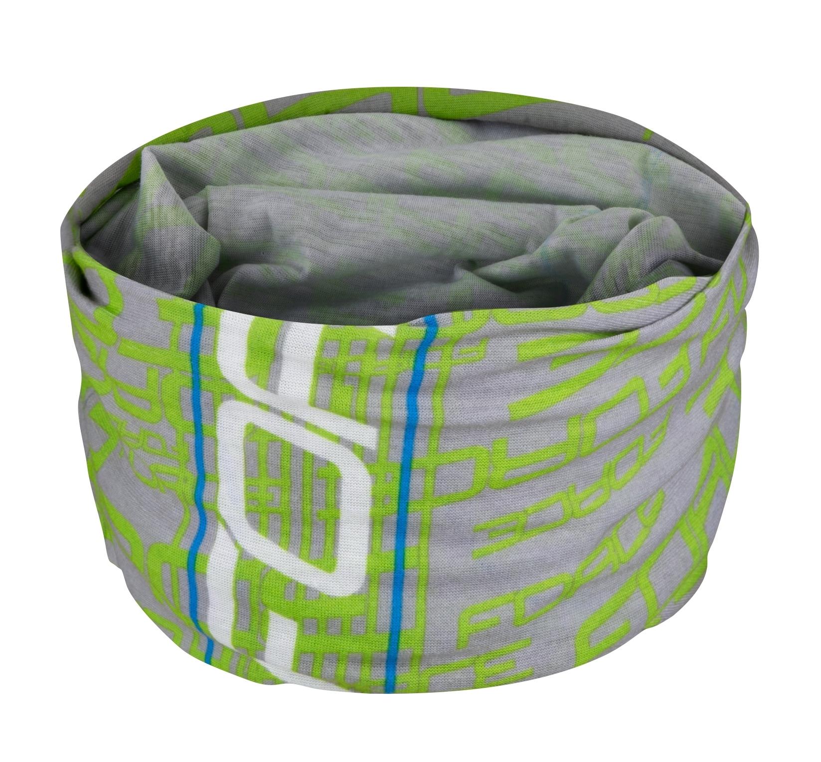 šátek multifunkční FORCE léto, fluo-šedý, UNI