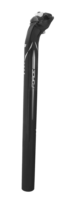 sedlovka F TEAM karbon 31,6/400mm, lesklá černá