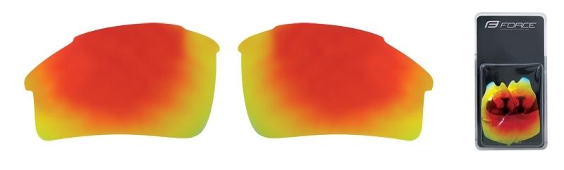 skla náhradní SPORT pár, červená laser