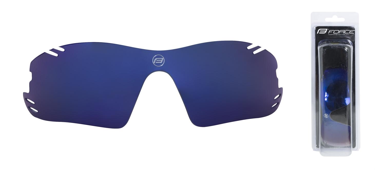 sklo náhradní RACE PRO , modré laser