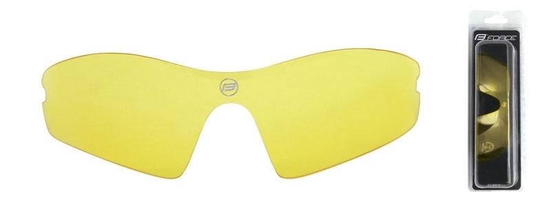 sklo náhradní RACE , žluté