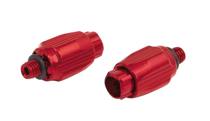 šrouby Al stavitelné řadícího lanka, červené