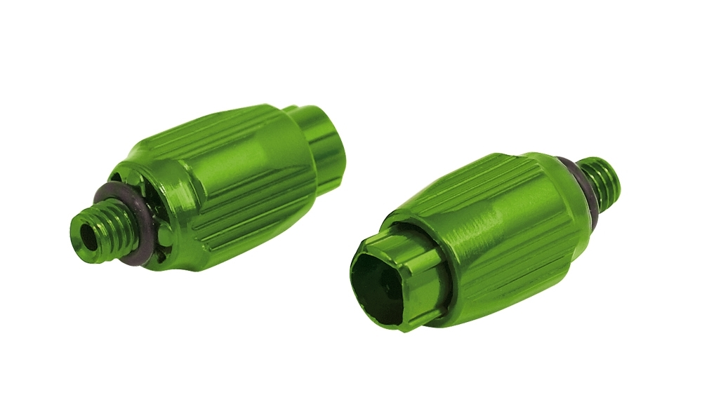 šrouby Al stavitelné řadícího lanka, zelené