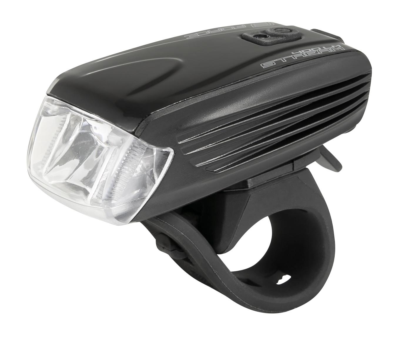 světlo přední FORCE STREAM 400LM, USB, černé